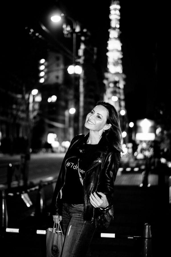 Frau in Tokyo in S/W