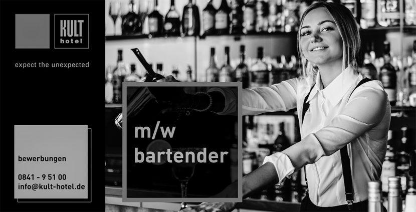 Anzeige Bartender S/W