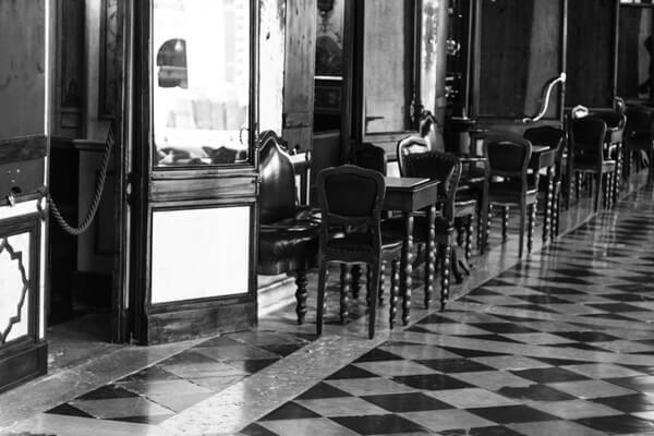 Cafe Florian Venedig in S/W