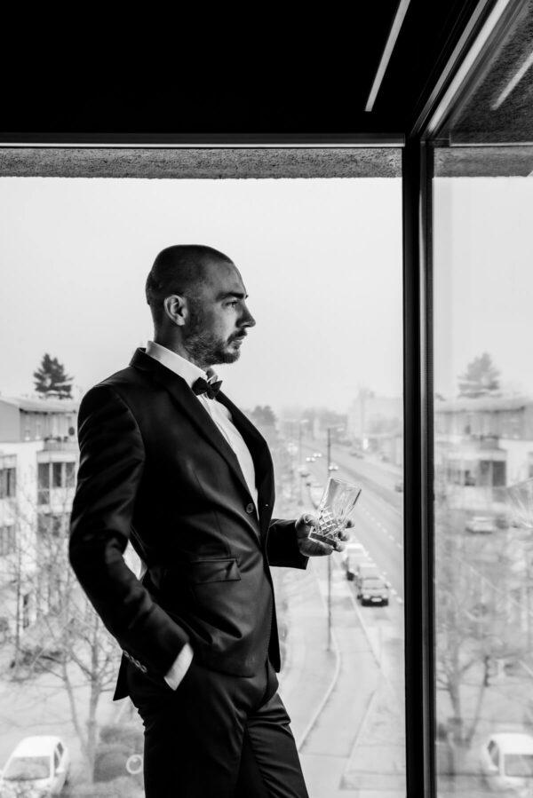 James Bond Portrait in S/W