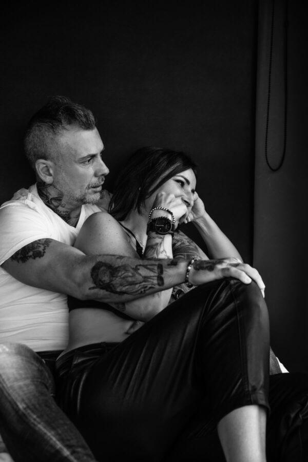 Liebesgeschichte Mann und Frau S/W
