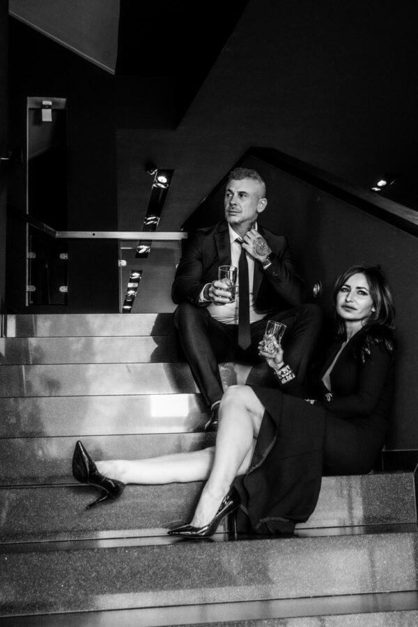 Pärchenshooting Lovestory Mann und Frau S/W