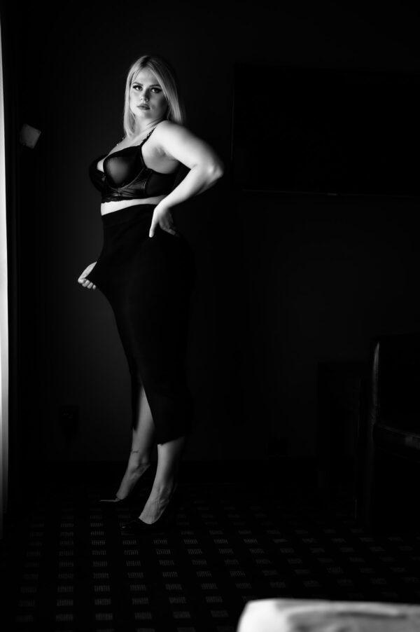 boudoir portrait im rock und bh