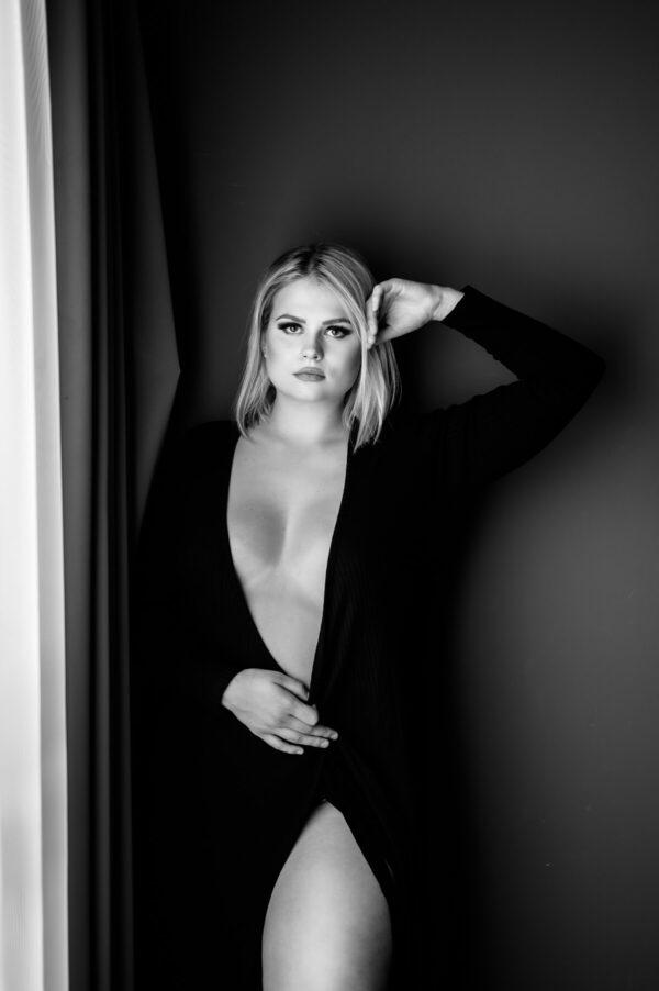 sexy kurvige Frau